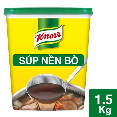 Knorr Beef Broth Base 1.5kg - Knorr Beef Broth Base delivers a stock base solution with a meaty taste instantly