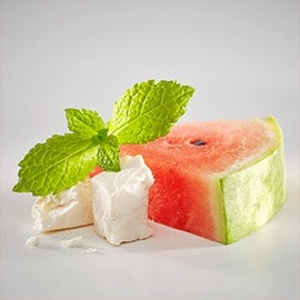 4. Mint, feta and watermelon